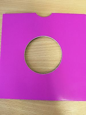 """100 X 7"""" Purple Card Record Masterbags Sleeves / Covers *new*"""