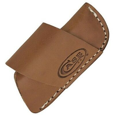 "Case Cutlery 50148 Brown Leather Side-Draw Belt Sheath for 3"" Folding Knives"