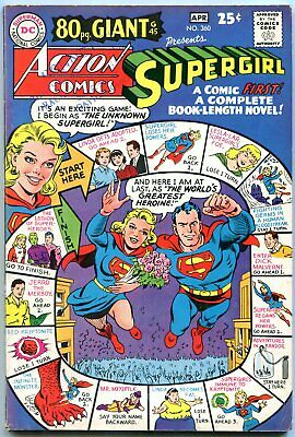 Action Comics #360 Dc Supergirl 1968 80 Pg Giant #45 Vg+