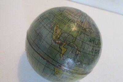 World tinplate globe vintage 3ins made in Germany19th- early 20th century