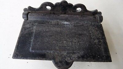 FANCY WALL HANGING ANTIQUE CAST IRON MATCH SAFE Ca 1860s - 1880s **