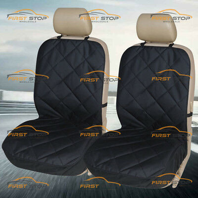 UKB4C Black Leather Look Front Pair of Car Seat Covers for Evoque 11-On