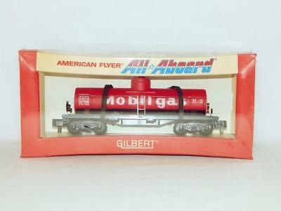American Flyer 24316 Mobilgas Tank Car Red All Aboard SEALED original box Sscale