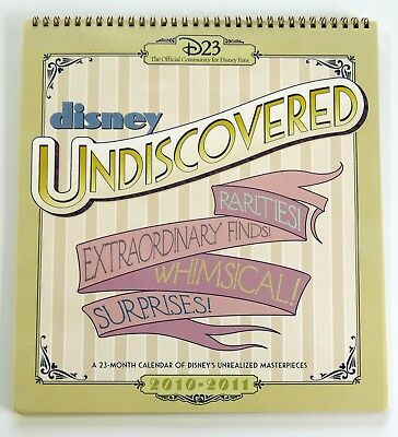 Disney Undiscovered 23 Month Calendar of Unrealized Masterpieces 2010-2011