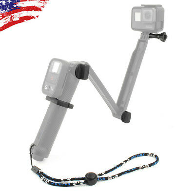 WiFi Remote Adapter Mount + Replacement Bolt + Wrist Strap for GoPro 3 Way Grip