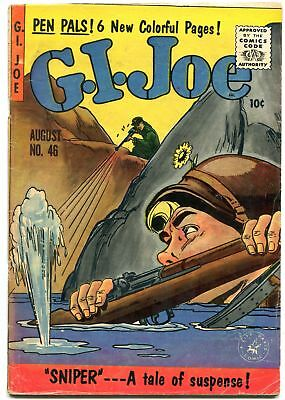 Gi Joe #46 1956--Sniper Cover--Ziff Davis Comics--War Vg