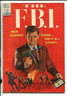 THE F.B.I. #1 1965-DELL-1ST ISSUE-HOOVER-KARPIS-LINDBERGH-TOMMY GUN-CAPONE-vg