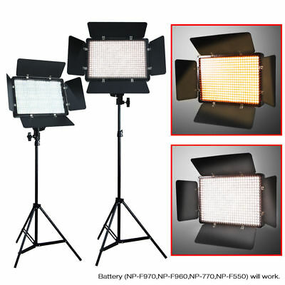 2 x 500 LED Professional Photography Studio Video Light Panel Camera Photo Light
