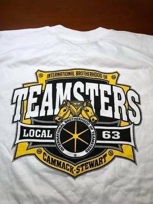 TEAMSTERS UNION LOCAL 63 CAMMACK - STEWART ( Large ) White Union Made  T-Shirt