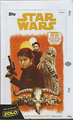 2018 Topps Solo: A Star Wars Story - Factory Sealed 24 Pack Hobby Box -In Stock