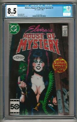 Elvira's House of Mystery Special #1 (1986) CGC 8.5  White Pages  Cavalieri