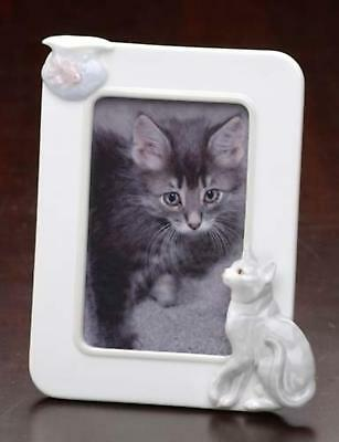 Roman Club Pack Of 12 Handcrafted Porcelain Cat And Fish Photo Picture Frames