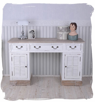 Desk Country House Style Computer Desk White Desk Drawers and Doors