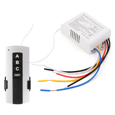 New 1/2/3/4 Way Light Lamp Digital Wireless Remote Control Switch ON/OFF 220V