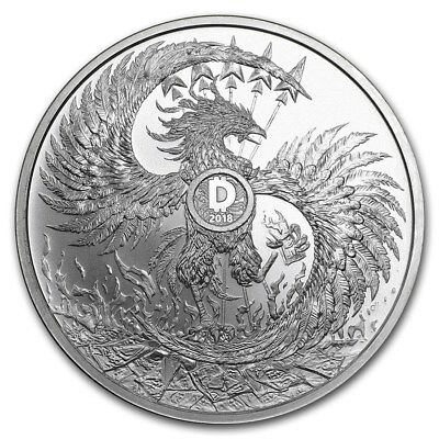 1 oz 999 Silver Silver Shield Phoenix Dragon Mark of the Beast Minimintage 2018
