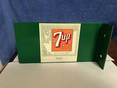 Angle Iron 7UP metal sign   Date on sign states 1947.