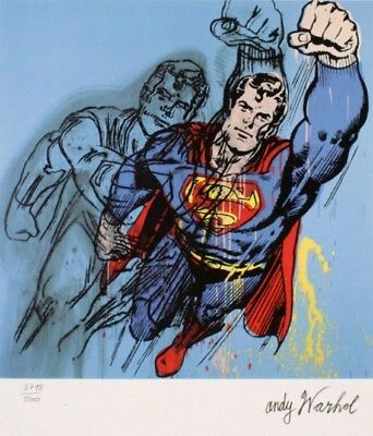 "Andy Warhol ""Superman"" (firmato numerate TIMBRO )"