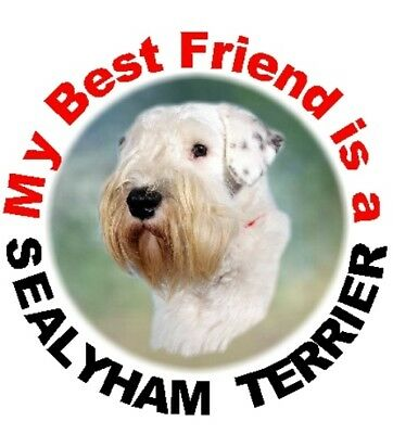 2 Sealyham Terrier Dog Car Stickers By Starprint