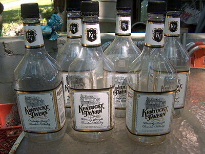 Kentucky Tavern Whiskey Bottle's (6) Empty 1.75 Plastic Bottles Ready For Crafts