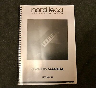 Nord Lead 1.x Software Owner's Manual, Bedienungsanleitung