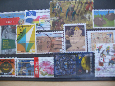 Belgium Lot Used Stamps All Differents
