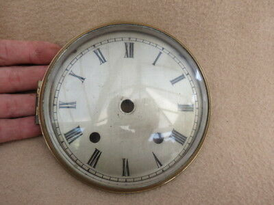 Vintage Silvered Clock Dial, Bezel, And Glass