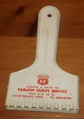 Emmetsburg Iowa advertising  Phillips 66 Farlow Curve Service ice scrapper