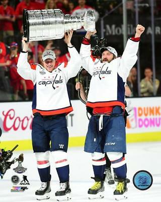 Capitals Stanley Cup Alex Ovechkin Nicklas Backstrom Hockey 8x10 Photo  Picture d701c0e3d