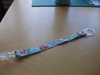 Handmade dummy clip with cath kidston fabric and MAM style adapter