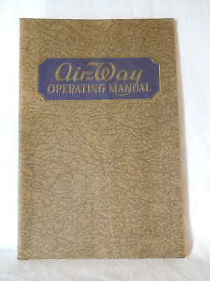 1929 Airway Vacuum Cleaned Operating Manual Well Illustrated