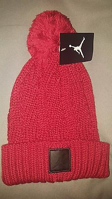 official photos 11cc7 ea529 Nike Jordan Knit Pom Beanie Hat Mens Red Black Style 801768 687 New With  Tags