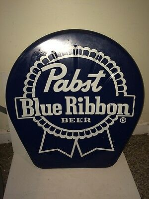 Vintage PBR Pabst Blue Ribbon Beer Chair Seat Back Sign,Mint Coors Bar Mirror