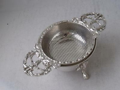 Solid Sterling Silver Tea Strainer on Stand 1966 & 1968/ L 10.8 cm/ 103 g