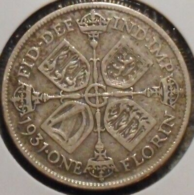 British Florin - 1931 - King George V - $1 Unlimited Shipping
