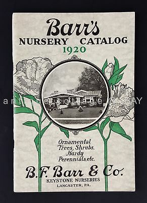 1920 antqiue BARRS NURSERY CATALOG ornamental tree shrub KEYSTONE lancaster pa