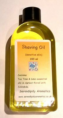 Shaving Oil for Sensitive Skin with Calendula - 100% Natural
