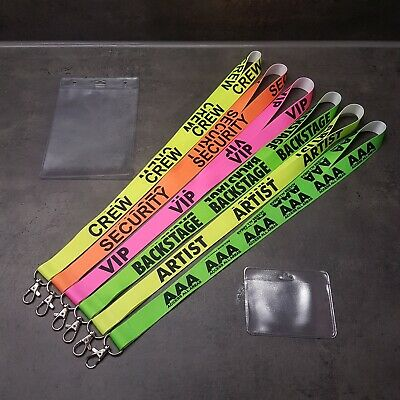 Top Lanyards Keyholder Schlüsselband UV NEON Security-Vip-Crew-Backstage-Access