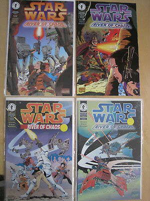 """STAR WARS :""""RIVER of CHAOS"""", COMPLETE 4 ISSUE 1995 DARK HORSE SERIES by SIMONSON"""