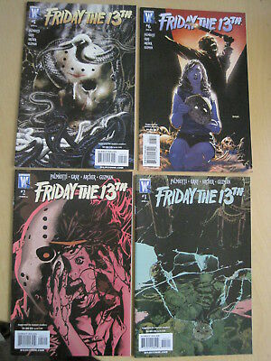 FRIDAY the 13th : ISSUES 2,3,5,6 of the 6 ISSUE 2007 WILDSTORM SERIES. VERY GORY
