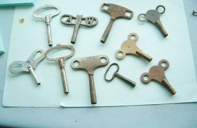 clock makers job lot of clock keys MIXED VINTAGE CLOCK KEYS clock repair