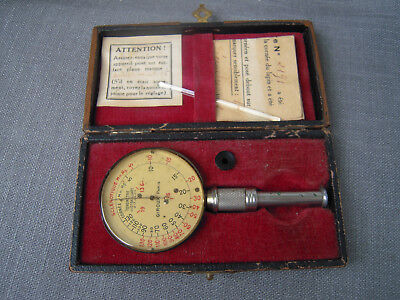 1942 Antique French  Medical Tonometer Ophthalmic Eye Tool by GIROUX  Paris