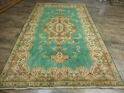 C1930 ANTIQUE PERSIAN TABATABE TABRIZ SHAHABASI AFSHAN 4.10x8.5 ESTATE SALE RUG