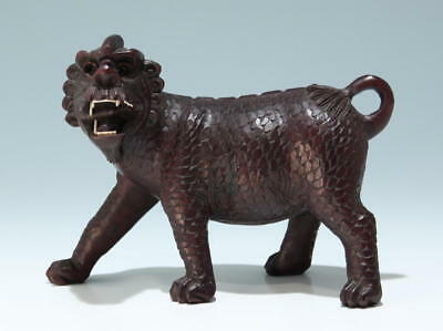 Carved Foo Dog Lion - 20th C.