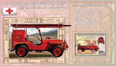 Congo - Antique Fire Engine Souvenir Sheet 3A-145