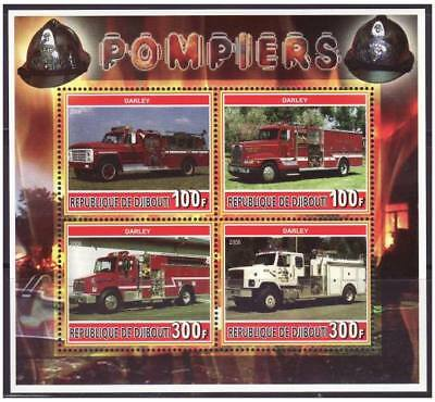 Fire Engines On Stamps -  Sheet of 4 - M1116
