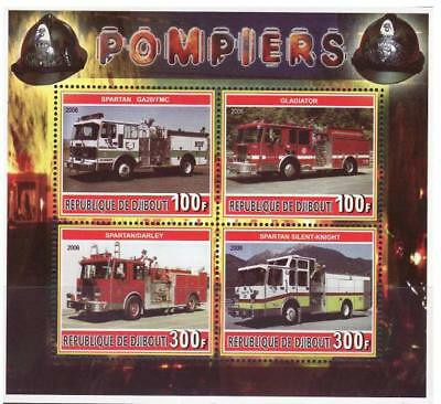 Fire Engines -  Sheet of 4 Stamps M1115