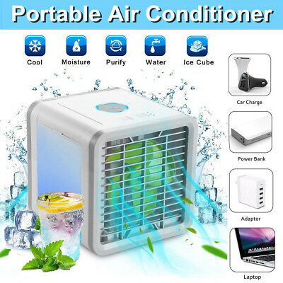 Portable 3 In 1 Air Cooler Personal Fan USB Rechargable Cooling Air Conditioner