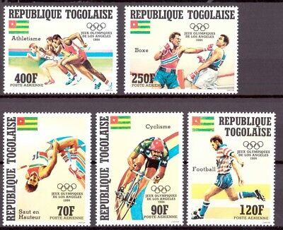 Togo MiNr. 1746-50 postfrisch/ MNH Olympia 1984 Los Angeles (Oly1145