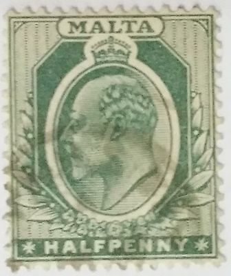 Malta Half Penny Used  Stamp....worldwide Stamps