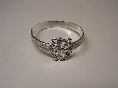 Napkin Ring with a ( Initial ( K  ) Sterling Silver
